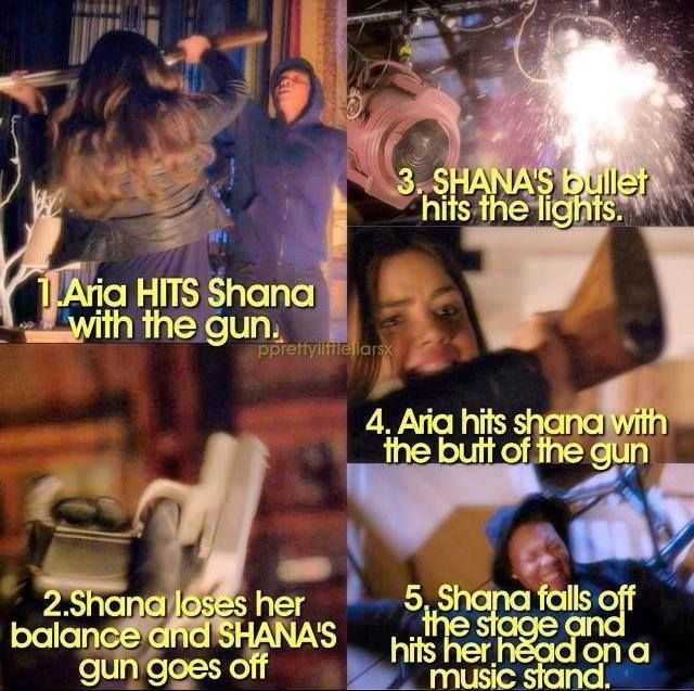 Pretty Little Liars Season 5 Aria Shana How Aria killed Shana
