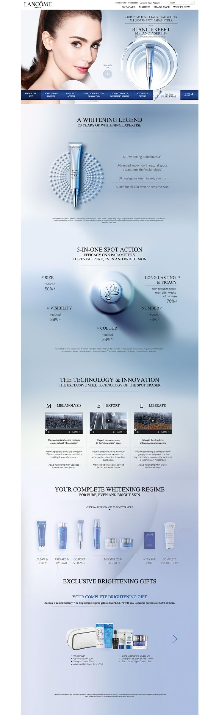 Lancôme - Blanc Expert on Behance