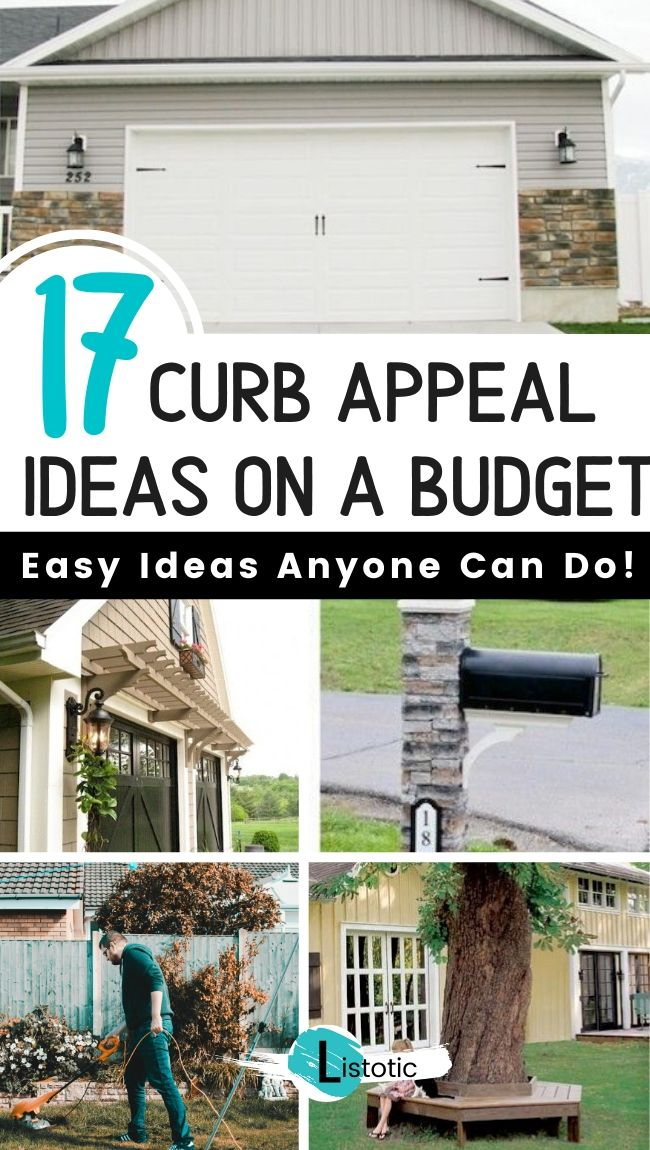Curb Appeal Ideas Anyone Can Do On A Budget Listotic In 2020 Curb Appeal Diy Curb Appeal Small House Curb Appeal