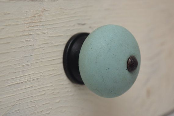 Teal Drawer Knobs With Bronze Hardware Rustic Teal Drawer
