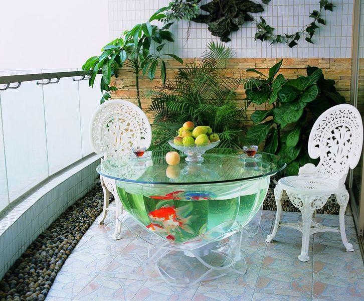 Aquarium table tanks fish set up pinterest aquarium aquarium original et - Table salon aquarium ...