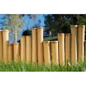 bamboo garden decor bamboo edging borders go green with tiki bar central - Bamboo Garden Decor