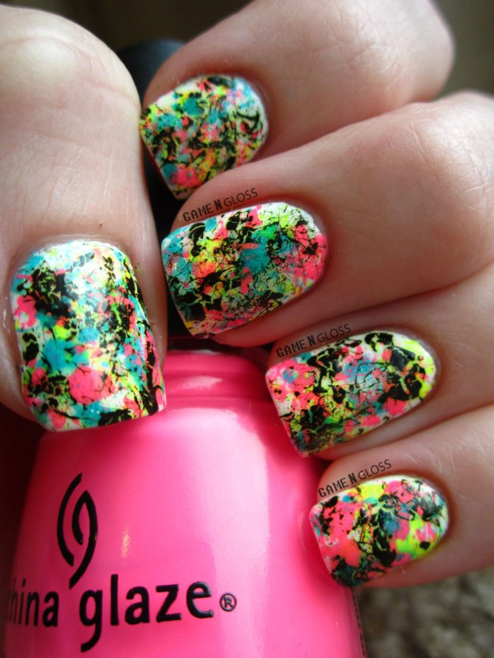 1000+ Ideas About Splatter Paint Nails On Pinterest