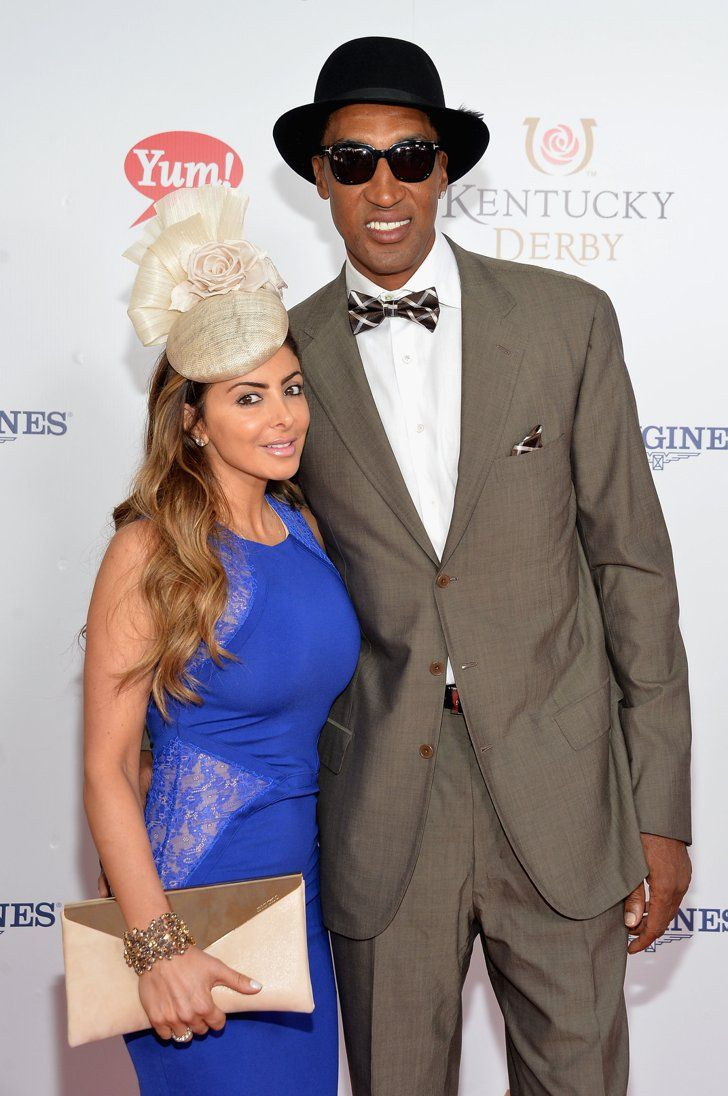 Pin for Later: Celebrities Party in the South at the Kentucky Derby  Scottie and Larsa Pippen leaned in for a cute photo.