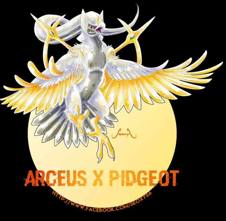 Arceus Pidgeot Pokemon Fusion Pinterest Pok 233 Mon Pokemon Fusion And Pokemon Fusion Art