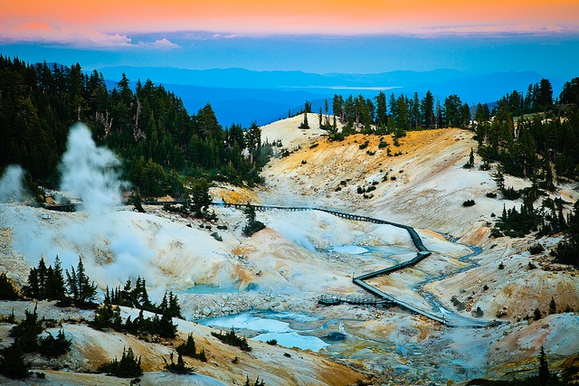 Practically in my backyard and I've never been.  Hot Springs, Lassen Volcanic National Park