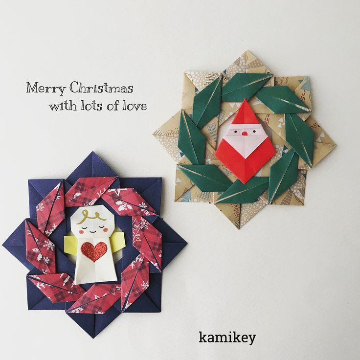 """見た瞬間「これで葉っぱリース作ろう!」と思ったダイソーの両面おりがみ。かわいいです(o^^o) 折り紙コーナーでなく、クリスマスグッズのコーナーに置いてありました。 ✴︎ 「葉っぱリース」「天使ちゃん」「サンタおじさん」の作り方動画は、YouTubeチャンネル【創作折り紙 カミキィ】でご覧ください(プロフィールにリンクがあります) ✳︎ Designed by kamikey Tutorial on YouTube """"kamikey origami """" link on my bio. #origami #折り紙 #kamikey #カミキィ#クリスマス"""