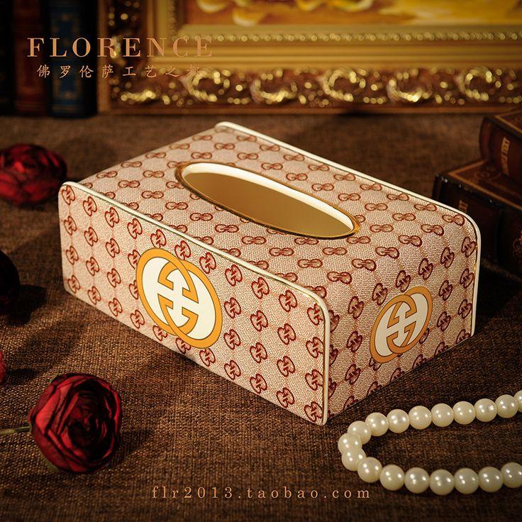 Caixa de tecido caixa de guardanapo de mesa de luxo casa decoração caixa de…