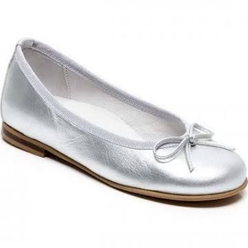 Step2wo New Ballet - Pretty Pump Silver Leather Size 28-30