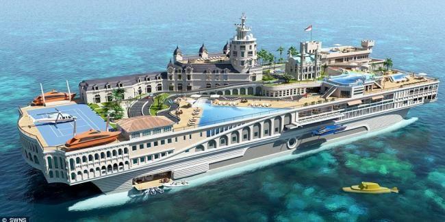 Фотография уникальной яхты «Улицы Монако»