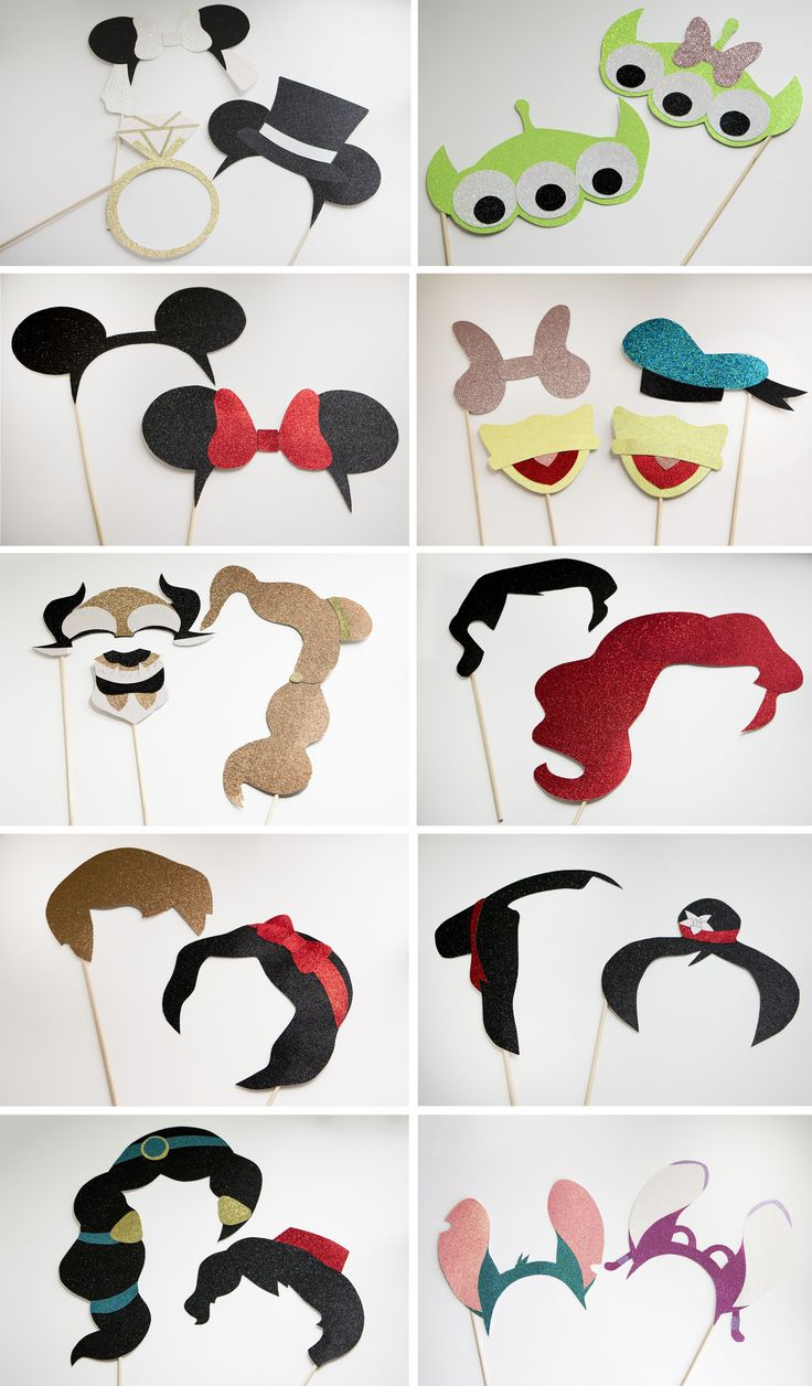 Super cute Disney-inspired couples photo booth props l Mal was anderes als ein Schnurrbart am Stiel l Super süße Idee