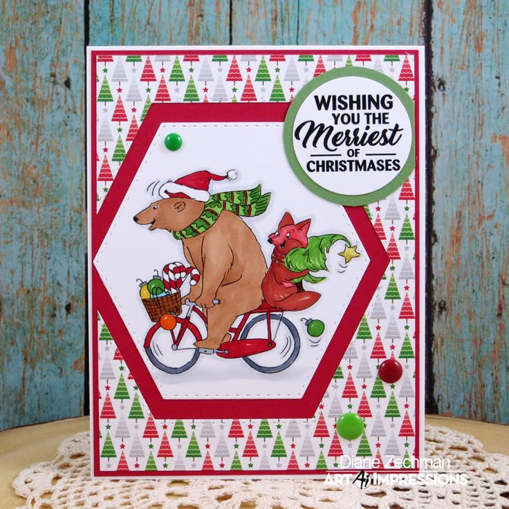 Christmas/Winter Cards by Art Impressions Rubber Stamps in