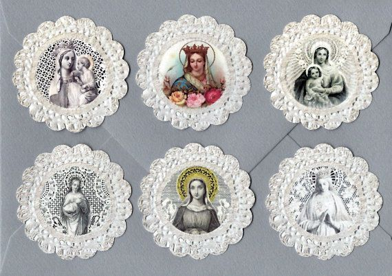 Sticker Seals Vintage Holy Card Images Religious by luvcrystals, $2.95
