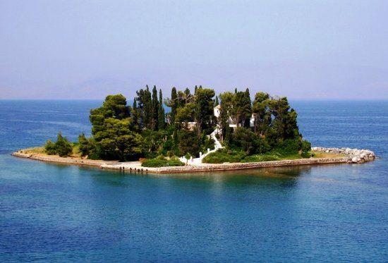 Isla Pontikonisi, Corfú, Grecia.