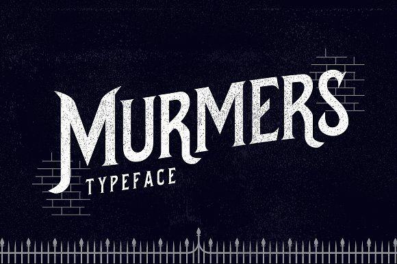 Murmers Typeface by Jiw on @creativemarket