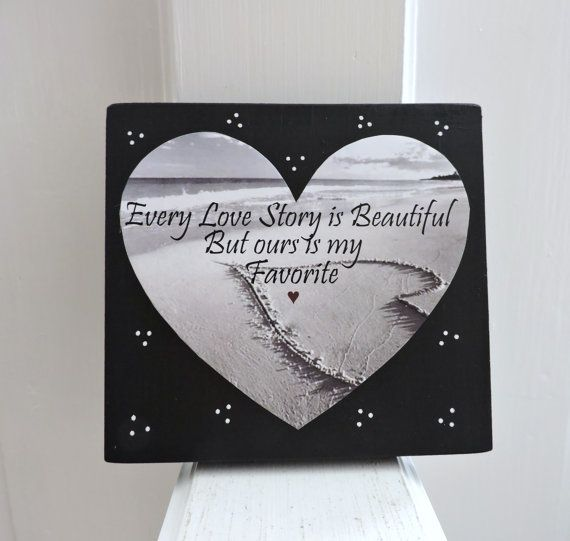 Love Story Sign   Romantic Gift   Gift for Girlfriend   Home & Living   Romantic Sign   Girlfriend Gift   Gift For Wife   Anniversary Gift