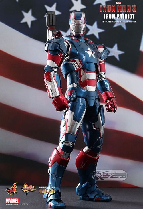 Hot Toys Diecast Iron Man 3 Iron Patriot Limited Edition Collectible Figurine 12 31cm