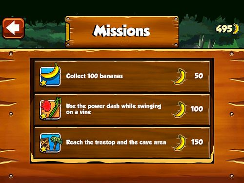 Banana Kong Missions: screenshots, UI