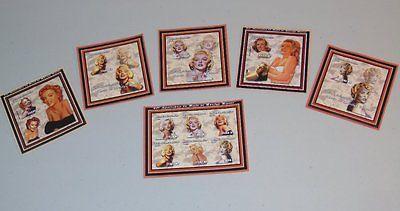 Stamp Pickers Mozambique 2002 Marilyn Monroe Souvenir Sheets Set MNH