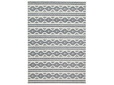 Tapis en polypropylène motif navajo/zigzag ethnique TARYA