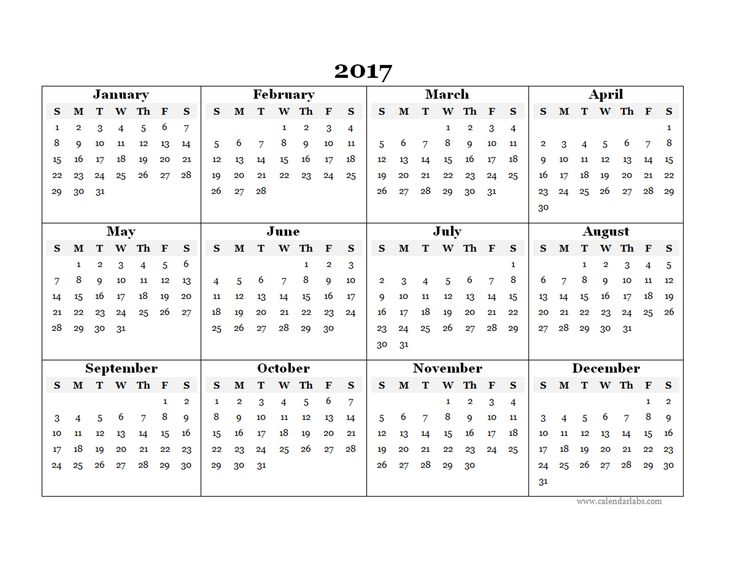 2017 Blank Yearly Calendar Template   Free Printable Templates kIgCQKem
