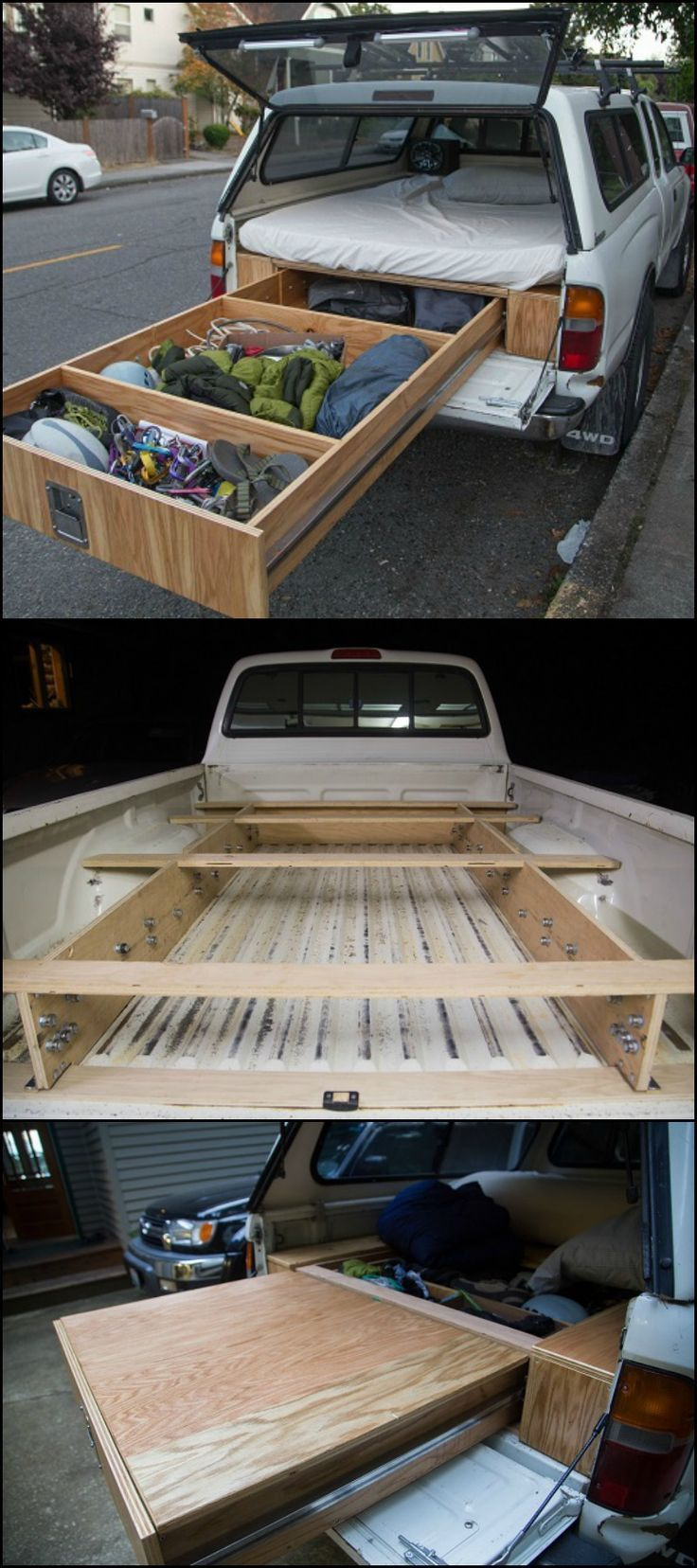 Do you always drive with your truck on road trip? This upgrade idea for your vehicle … #WoodWorking