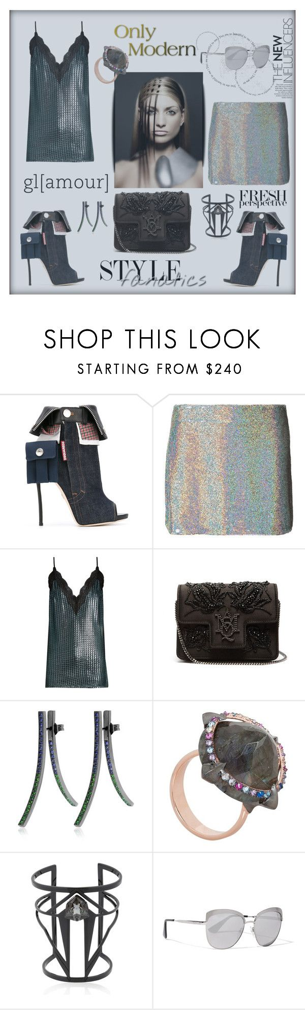 """Style Fanatics"" by zabead ❤ liked on Polyvore featuring Dsquared2, Ashish, House of Holland, Alexander McQueen, Bea Bongiasca, Katie Rowland, Maria Francesca Pepe and Prada"