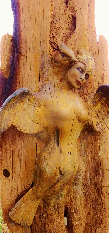 Shaman Bird Woman Driftwood Sculpture By Debra by ShapingSpirit