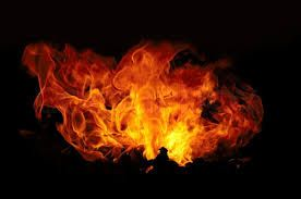 Image result for red fire black background
