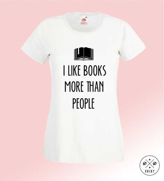 Books,+Damska+koszulka+z+nadrukiem,+w+DDshirt+na+DaWanda.com