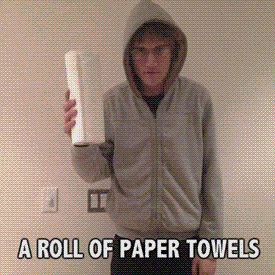 How to reverse engineer paper towels. ^click itt (GIF)