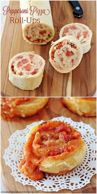Slice and Bake Pepperoni Pizza Roll-up ~ All the flavors of your favorite pizza surround by flaky, melt-in-your-mouth puff pastry.