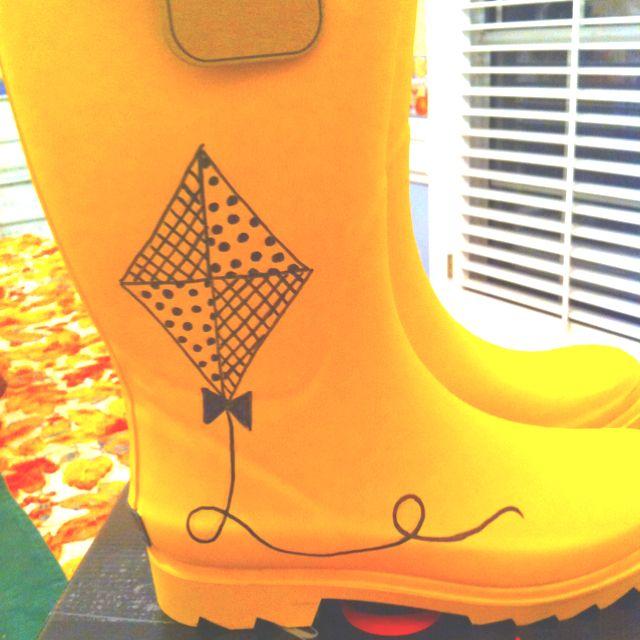 Kappa Alpha Theta rainboots #theta1870