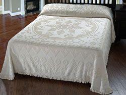New England Tradition Queen White Bedspread - PC Fallon
