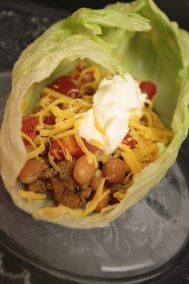 Turkey Taco Lettuce Wraps WW points: 5 (I used fat free cheese and ...