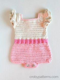 Free Crochet Pattern Baby Jumper : 17 Best ideas about Crochet Romper on Pinterest Crochet ...