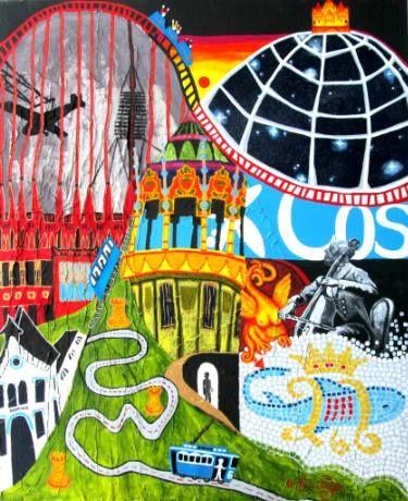 "Saatchi Art Artist Karlijn Surminski; Collage, ""Sarrià Sant Gervasi"" #art"