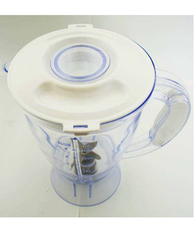 """Copo Liq Mondial Vitamix Transl 760 Mb - """"FOTO ILUSTRATIVACopo clean translúcido com tampaCopo para liquificadorMONDIAL VITAMIXCopo clean translúcido com tampa compatível comliquidificador MONDIAL VITAMIX L41Capacidade: 1,5 Litros (Não serve o filtro)Fabricado em polipropileno, faca em aço Inox,arruelaem inox / teflon e celeron, arraste em nylon,porca emaço inox, bucha de bronze e buchaem poliacetal, tampaem polipropilenoe sobretampa em poliestilenoCapacidade para 1,5 LitrosComprimento…"""