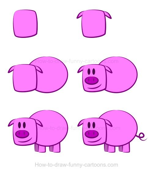 Drawing a pig. :)