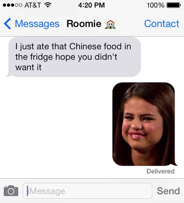 When your roommate eats the Chinese food you were saving for later | The Selena Gomez meme is applicable to everything