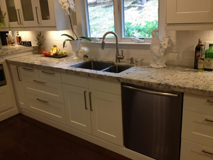 meyers edwards ikea kitchen with beige granite countertops