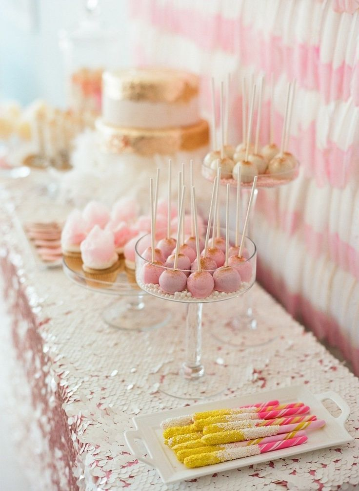 Gold, pink + peach spa party    Read More: http://www.stylemepretty.com/living/2013/05/01/watercolor-bridal-shower-from-liz-banfield/