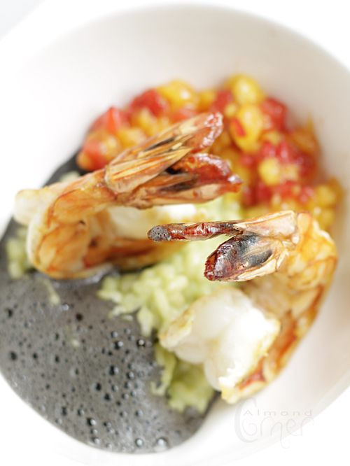 Shrimp with coconut-avocado risotto, | what I want to eat | Pinterest