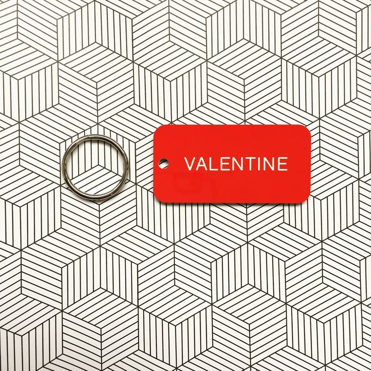 Valentine KeyTag KeyRing in Red + White / The Manchester Bee Company