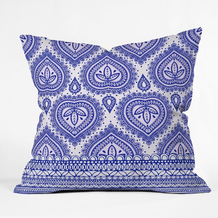 Aimee St Hill Decorative Blue Throw Pillow | DENY Designs Home Accessories