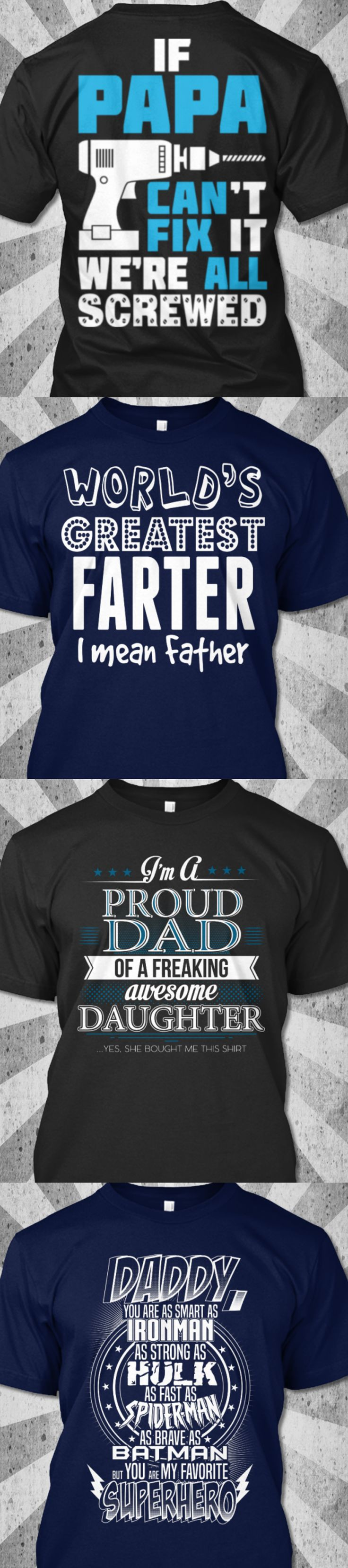 Looking for unique Father's Day Gifts? Check out our best sell Father's Day t-shirts! FREE Shipping this week only on all items! Get the perfect gift for your husband, Dad or Grandpa