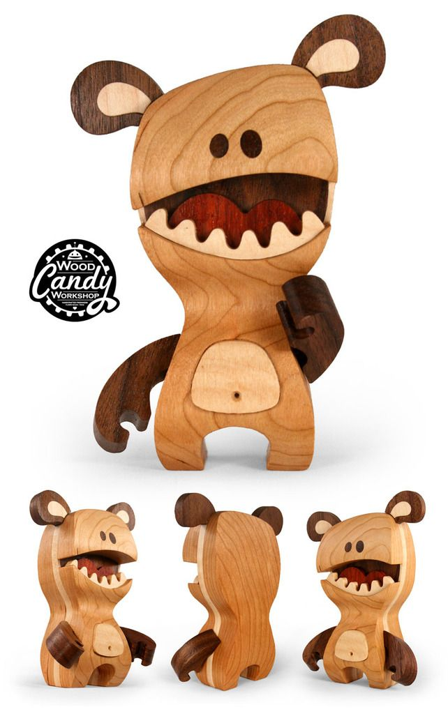 "SpankyStokes.com | Vinyl Toys, Art, Culture, & Everything Inbetween: ""Huxley"" wooden figure revealed from Cameron Tiede and his 'Wood Candy Workshop'!!!"