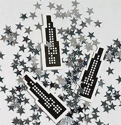 Sprinkle this city building confetti on tables or put it in invitation envelopes to decorate for your big city theme.