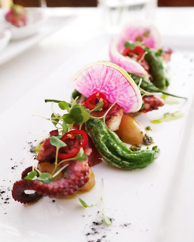 Try the OCTOPUS at our new restaurant, @ravishhonolulu. Served with shishito, island potatoes & shiso.