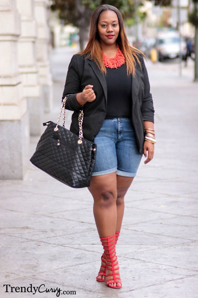 Plus Size Fashion Short Shorts For Curvy